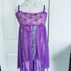 Purple Lace  Nighty